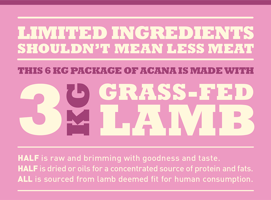 6kg de CANA GRASS-FED LAMB están echos con: